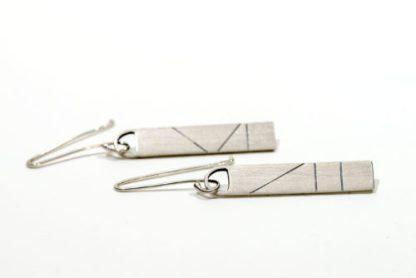 Eco friendly vegan drop earrings