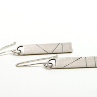 Eco friendly vegan drop earrings