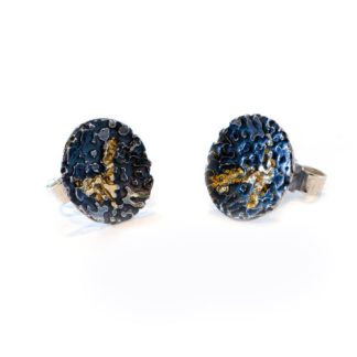 vegan silver and gold stud earrings | Lisa Rothwell-Young
