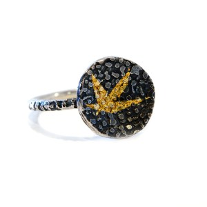vegan silver and gold ring | Lisa Rothwell-Young