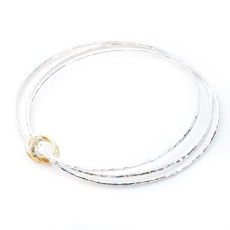 Vegan Silver and Gold Bangles | Lisa Rothwell-Young