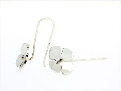 eco friendly recycled silver flower earrings | Lisa Rothwell-Young