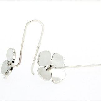 eco friendly recycled silver flower earrings