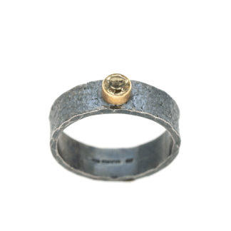 environmentally friendly recycled silver ring