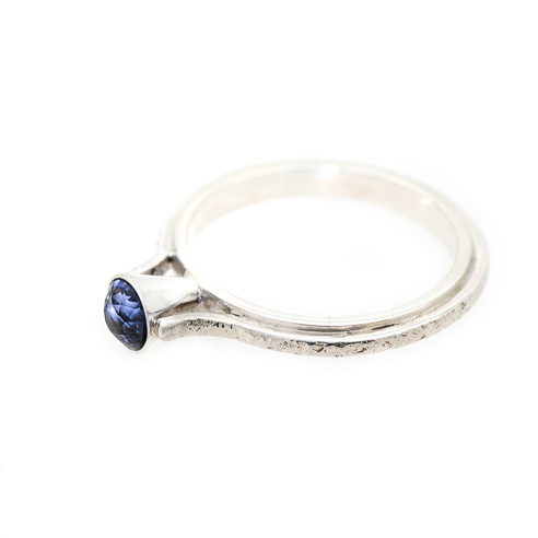 Eco Friendly Engagement Ring - Ocean Inspired Sapphire Flat | Lisa Rothwell-Young