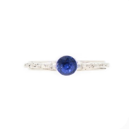 Eco Friendly Engagement Ring - Ocean Inspired Sapphire Front | Lisa Rothwell-Young