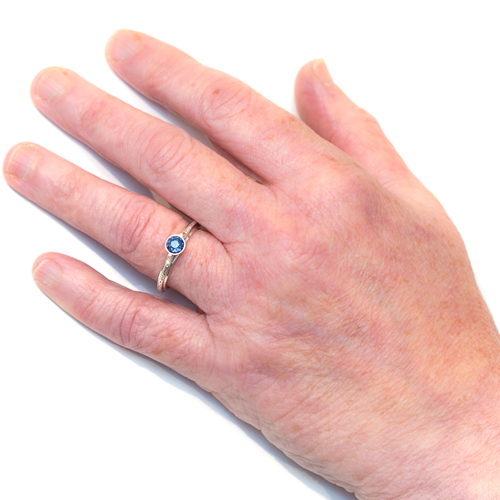 Eco Friendly Engagement Ring - Ocean InspiredSapphire Hand | Lisa Rothwell-Young