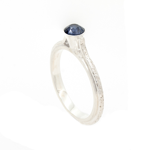 Eco friendly Engagement Ring - Ocean Inspired Sapphire Side | Lisa Rothwell-Young