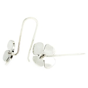 Recycled sterling silver flower Flora Earrings
