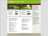 Bloghostings.com hosted by 1and1.com