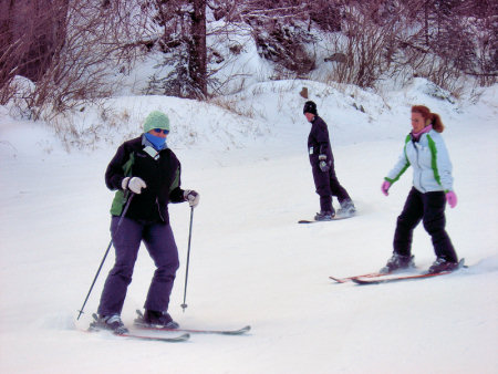 Ben, Missy, Lisa skiing Gore MOuntain