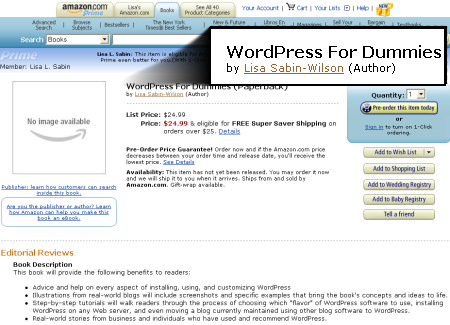 WordPress on Dummies on Sale at Amazon.com