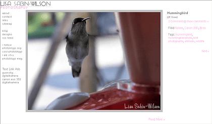 Snapping Photos, Lisa Sabin-Wilson Photography, WordPress photoblog, YAPB plugin, Yet Another Photoblog Plugin, custom template, photoblog design