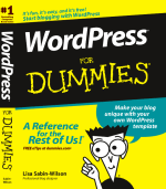 WordPress For Dummies by author Lisa Sabin-Wilson, published by Wiley Publishing