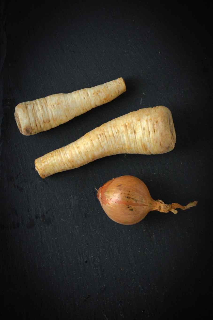 Low Carb Rezept falscher Kartoffelsalat aus Petersilienwurzel