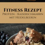 Protein Kaiserschmarrn Abnehmen Fitness Rezept Haferflocken Heidelbeeren