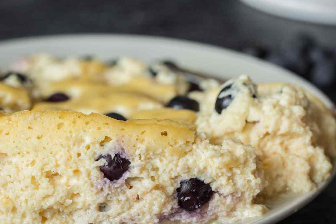 Proteinkuchen Blueberry Cheesecake - gesunder Käsekuchen