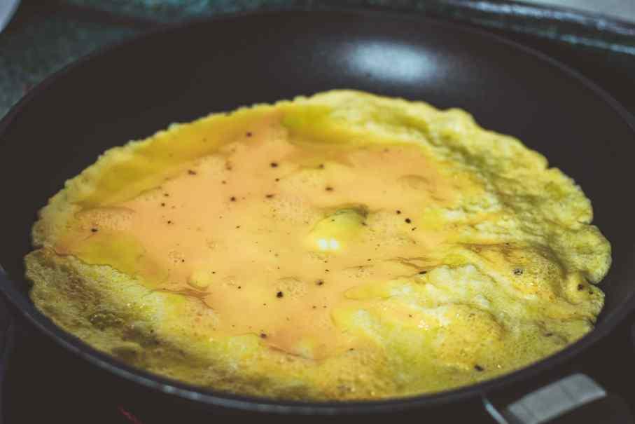 Omelett, Eierkuchen, Rezept zum Abnehmen.