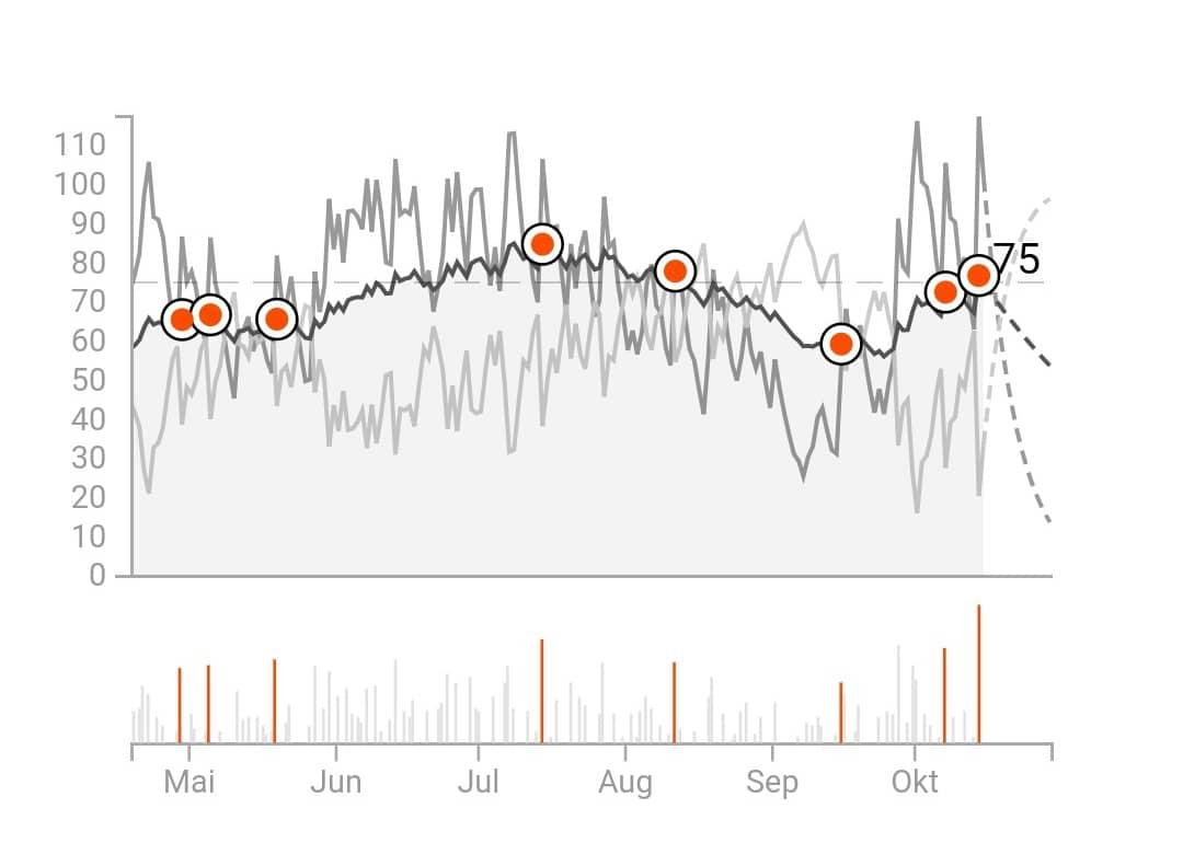 Strava Mountainbike Fitness and Freshness Erfolge beim Radfahren und Wettkämpfe