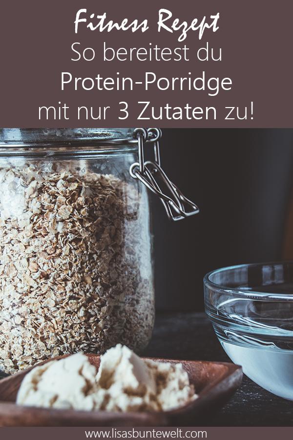 Fitness Rezept Proteinporridge bestehend aus 3 Zutaten. Schnell gemacht und tolle Nährwerte.