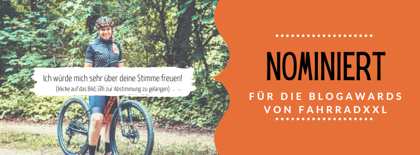 Nominiert für die FahrradXXL Blogawards in der Kategorie Generalisten
