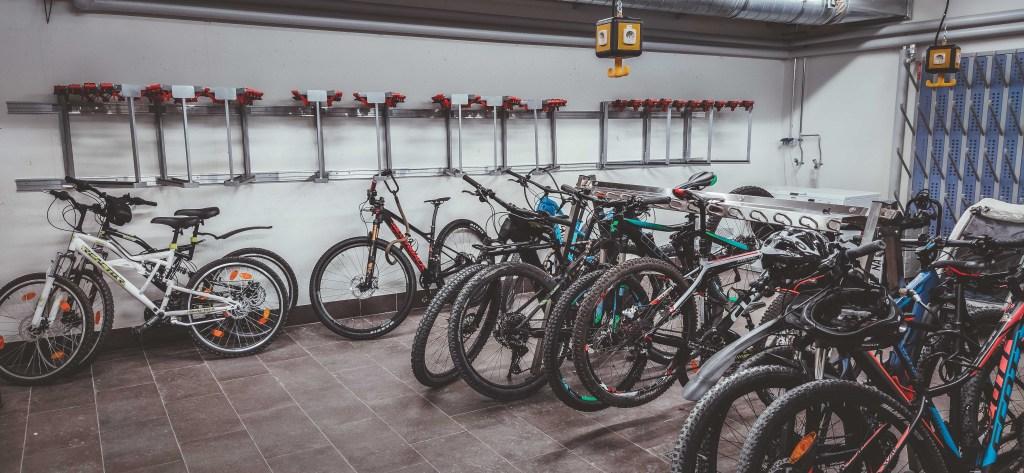 Fahrradraum im Explorer-Hotel in Nesselwang - Bikeurlaub in den Allgäuer Alpen