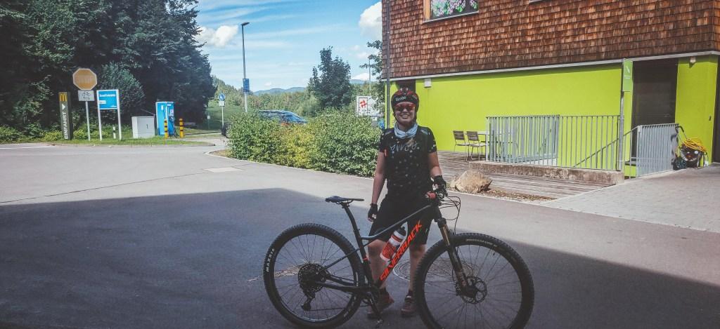 Angekommen im Explorer Hotel Oberstdorf mit dem Mountainbike