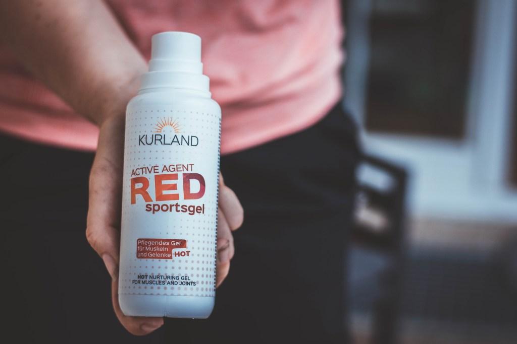 Active Agent Red Sportsgel von Kurland ideal zum Aufwärmen vor dem Radfahren