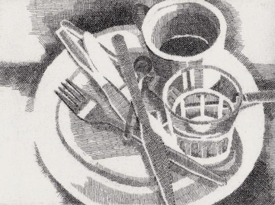 Prints Breakfast Marios Etching