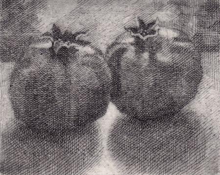 Prints Two Pommegranites Etching