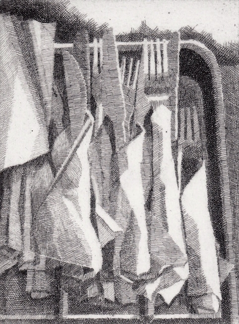 Prints Cutlery Marios Etching