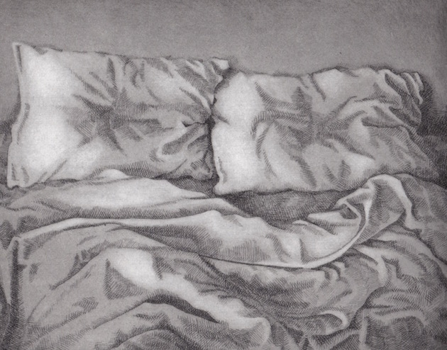 Prints Pillows Unmade Bedclothes Etching