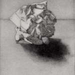 Prints Crumpled Paper Abstract Etching