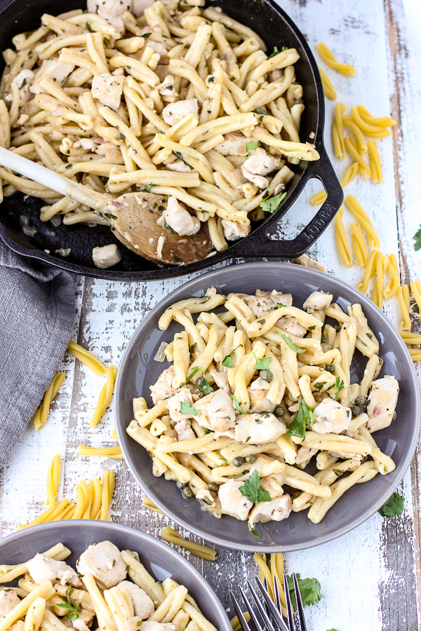 Chicken Piccata Pasta Toss A Family Favorite Lisas Dinnertime Dish