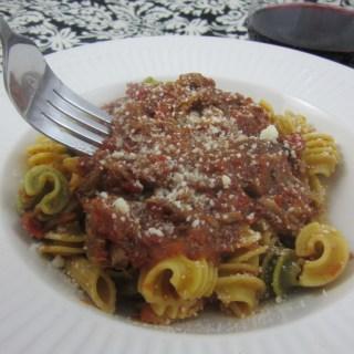 Busy Night Braised Beef and Marinara Pasta