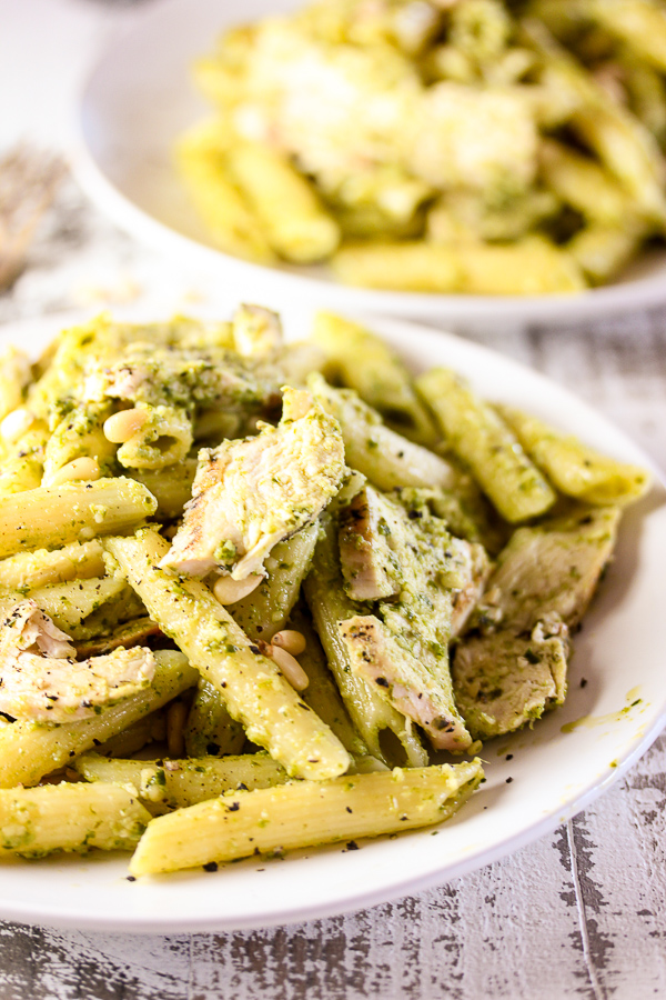 Grilled Chicken Pesto Pasta is an incredibly easy dish to prepare, yet it's full of rich delicious flavor. It's perfect for family dinners or entertaining.