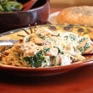 Part IV Budget Meals:  Grilled Chicken Florentine Pasta