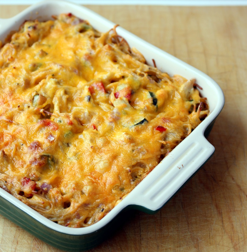 Chicken Spaghetti Casserole - Lisa's Dinnertime Dish for ...