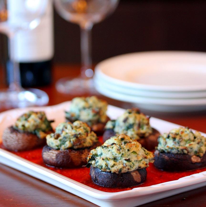 Spinach And Ricotta Stuffed Mushrooms Lisa S Dinnertime Dish