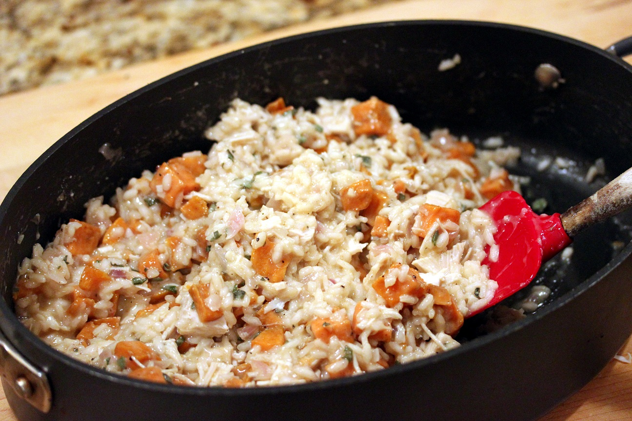 Turkey and Roasted Sweet Potato Risotto - Lisa's ...