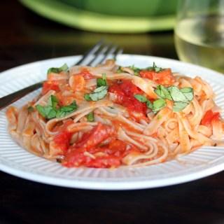 Roasted Grape Tomato and Pancetta Pasta Sauce