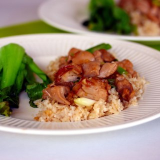 Vietnamese Caramel Chicken with Sesame, Lime Rice