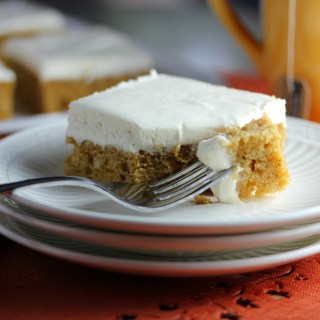 Brown Butter Pumpkin Bars with Fluffy Cream Cheese Frosting