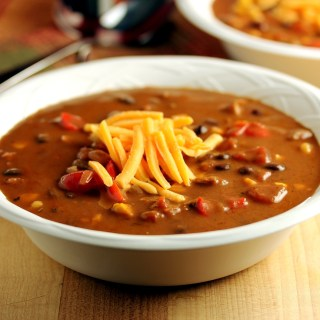 South of the Border Sausage and Black Bean Soup
