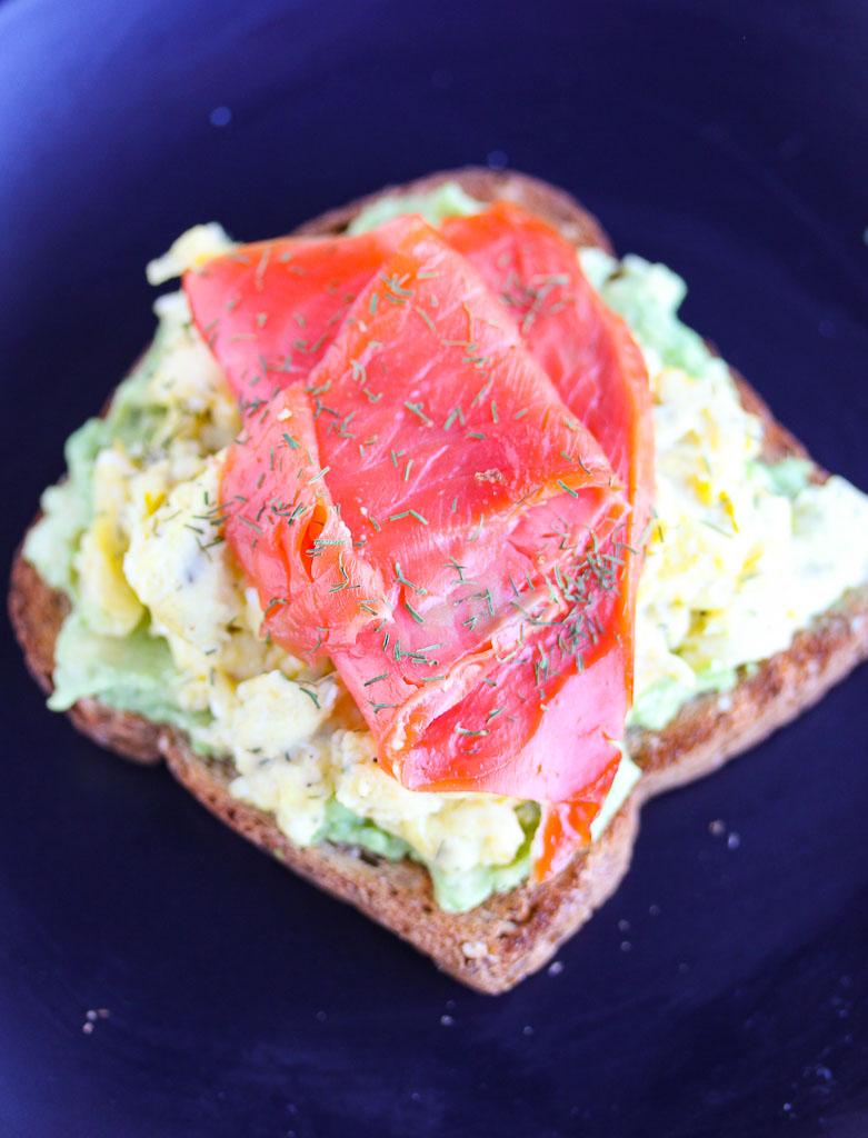 Lisa's Dinnertime Dish: Smoked Salmon and Egg Avocado Toast