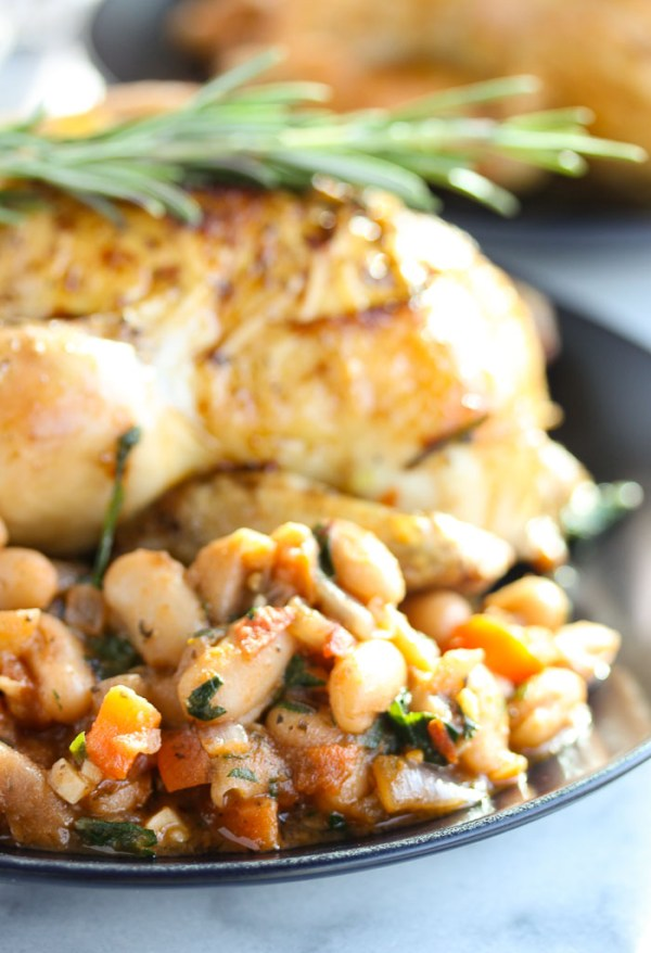Roasted Cornish Game Hens with White bean Ragout - Lisa's ...