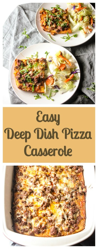Easy Deep Dish Pizza | lisasdinnertimedish.com