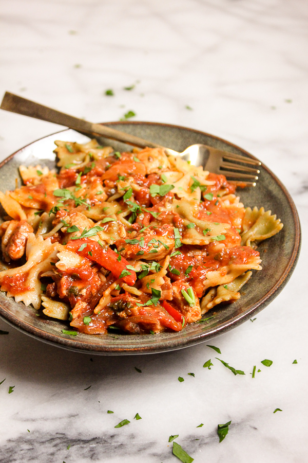 Quick Chicken Cacciatore is a richly flavored pasta dish that's so ...