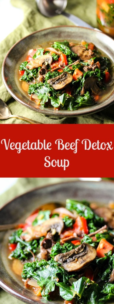 A homemade stock along with a variety of nutrition packed vegetables make this Vegetable Beef Detox Soup a delicious bowl of goodness.