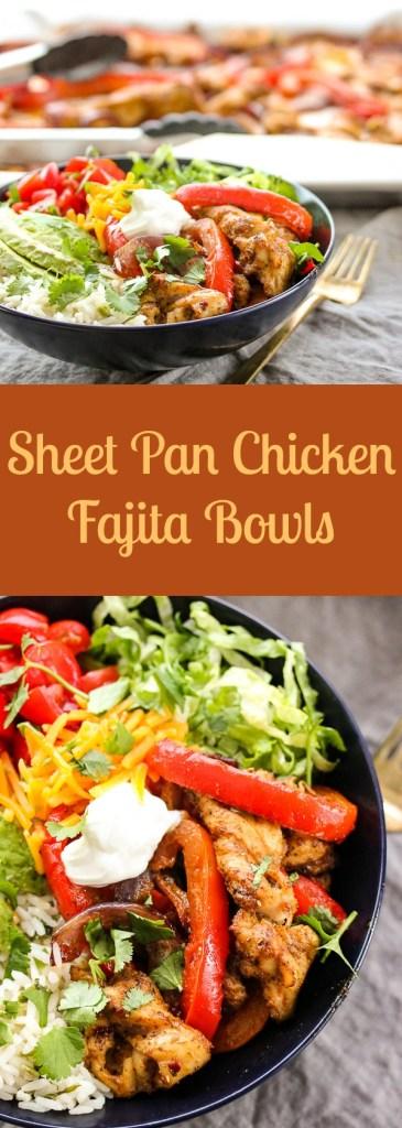 Sheet Pan Chicken Fajita Bowls